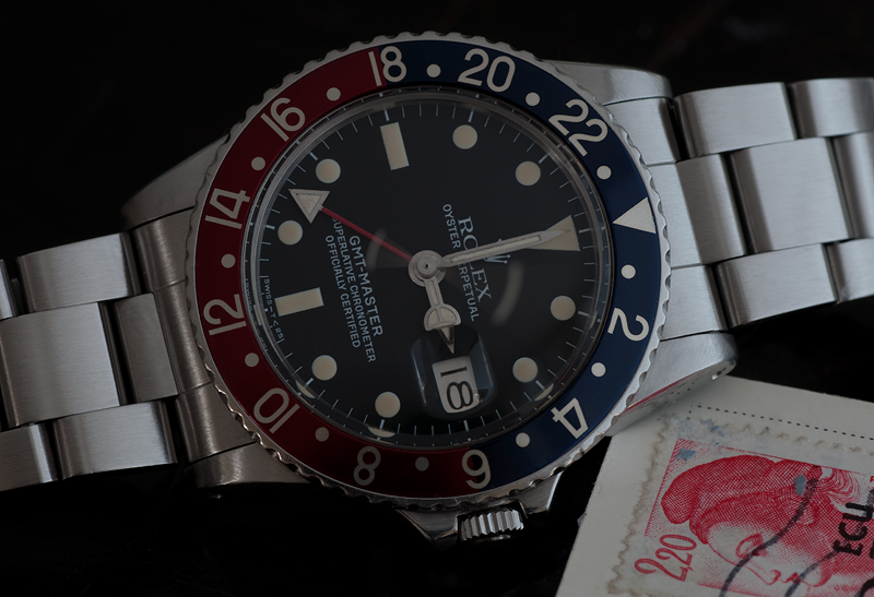 Rolex 1675 with Maroon Insert