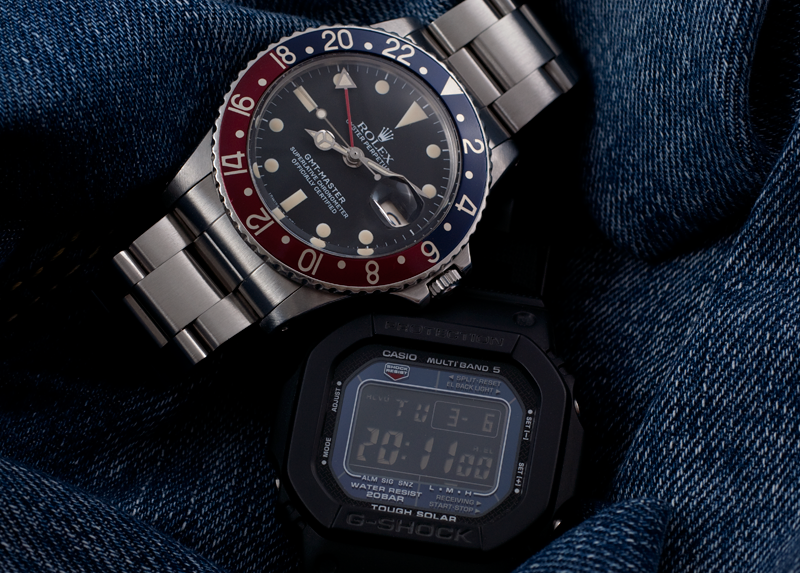 Rolex 1675 GMT & G-Shock 5600 Inverted Dial