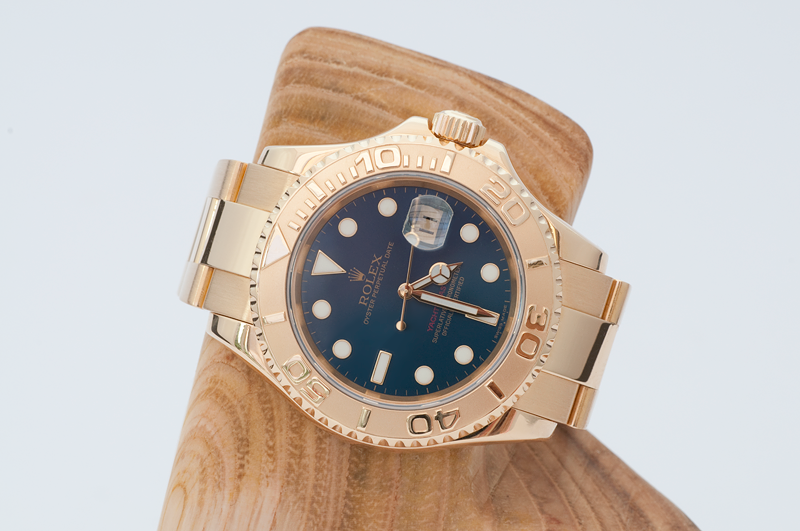 Shades Of Blue.. Rolex 16628 18k Yachtmaster