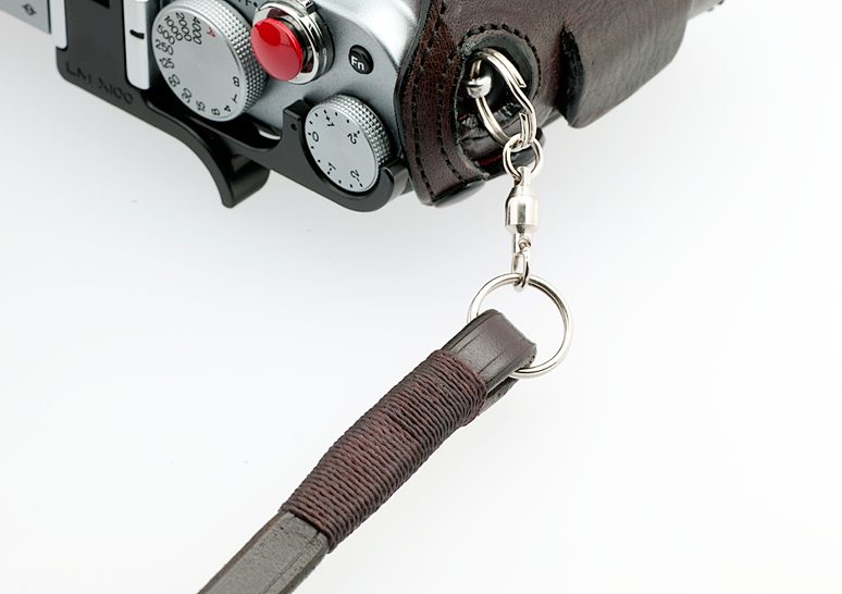 FOOTPRINT LEATHER SHOULDER STRAP